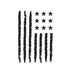 American flag symbol independence day celebration vector
