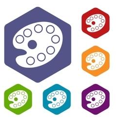 Art palette icons set vector image
