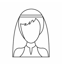 Beautiful bride icon outline style vector image