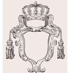 crown insignia vector image