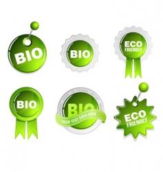 ecology bio signs vector image vector image