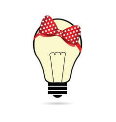 lightbulb with bow vector image