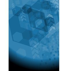 Modern dark blue background vector image vector image
