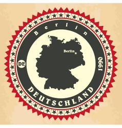 Vintage label-sticker cards of Germany vector image vector image