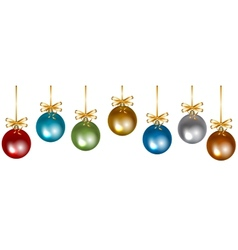 colorful baubles vector image