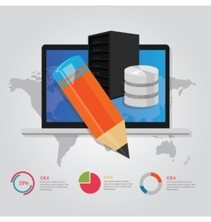 online education e-learning technology worldwide vector image vector image