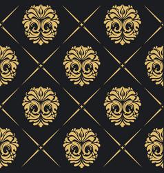 royal background baroque vector image vector image