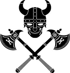 skull of the warrior first variant vector image vector image