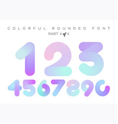 3d liquid paint letters colorful neon rounded vector