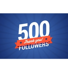 500 followers vector