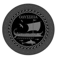 Ancient greek greek sailing vector