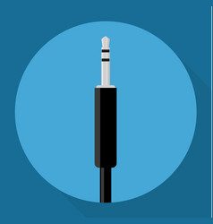 audio jack icon vector image