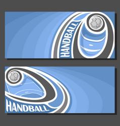 Banners for handball vector