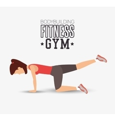 Bodybuilding fitness gym woman exercising vector