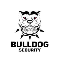 bulldogs logo design template vector image