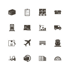 Cargo - flat icons vector