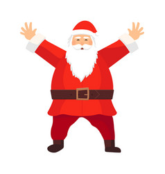 cartoon santa claus with a white beard vector image