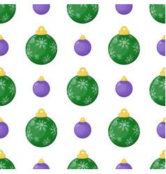 christmas balls seamless pattern colorful xmas vector image
