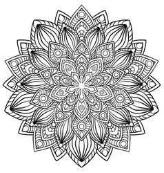 Circular pattern in form of mandala for henna vector