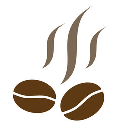 Coffee beans smell flat icon symbol vector