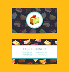 Confectionary cooking or pastry shop vector