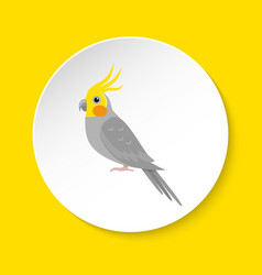 corella parrot icon in flat style vector image