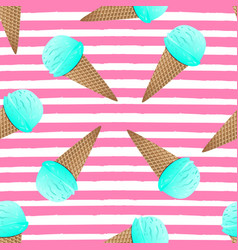 cute ice cream seamless ice vector image