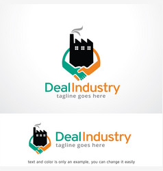Deal industry logo template vector