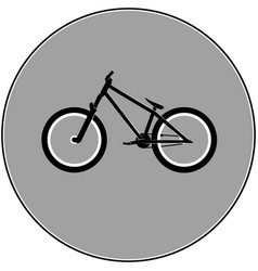 Dirt street sport bicycle vector
