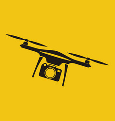 drone with action camera front view vector image