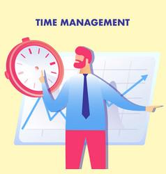 Effective planning time management vector