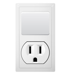 Electrical socket type b with switch receptacle vector