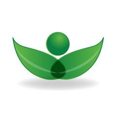 environmental nature leafs icon vector image