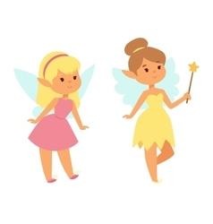 Fairies cartoon character vector