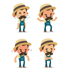 farmers vector image