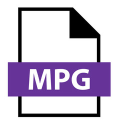 file name extension mpg type vector image