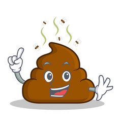 Finger poop emoticon character cartoon vector