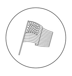 flag of the united states icon in outline style vector image