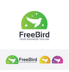 Freedom bird logo design vector