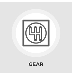 Gear icon flat vector