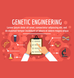 genetic engineering concept banner flat style vector image