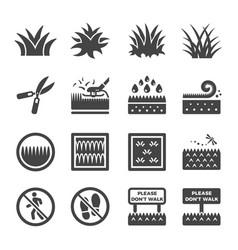 Grass icon vector