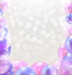 Happy Birthday Card With Pastel Balloons vector