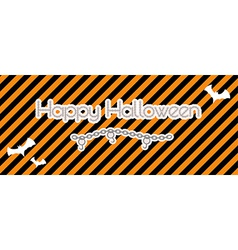 Happy halloween created from chain vector