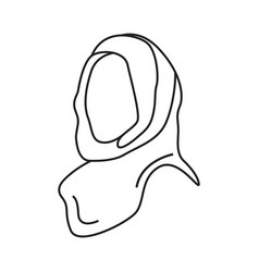 hijab icon graphic design isolated vector image