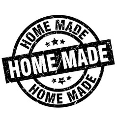 Home made round grunge black stamp vector