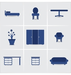 icons furnniture vector image
