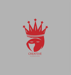 king ninja abstract logo vector image