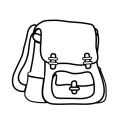 line school backpack education object design vector image