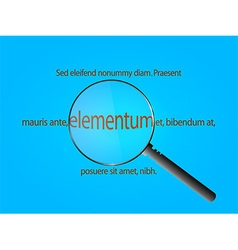 Magnifier and sample text vector image
